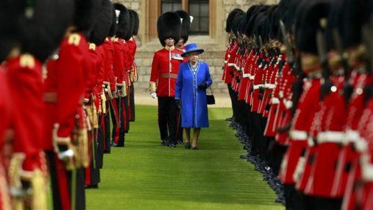 Queen Elizabeth II at Windsor Castle on April 30, 2015